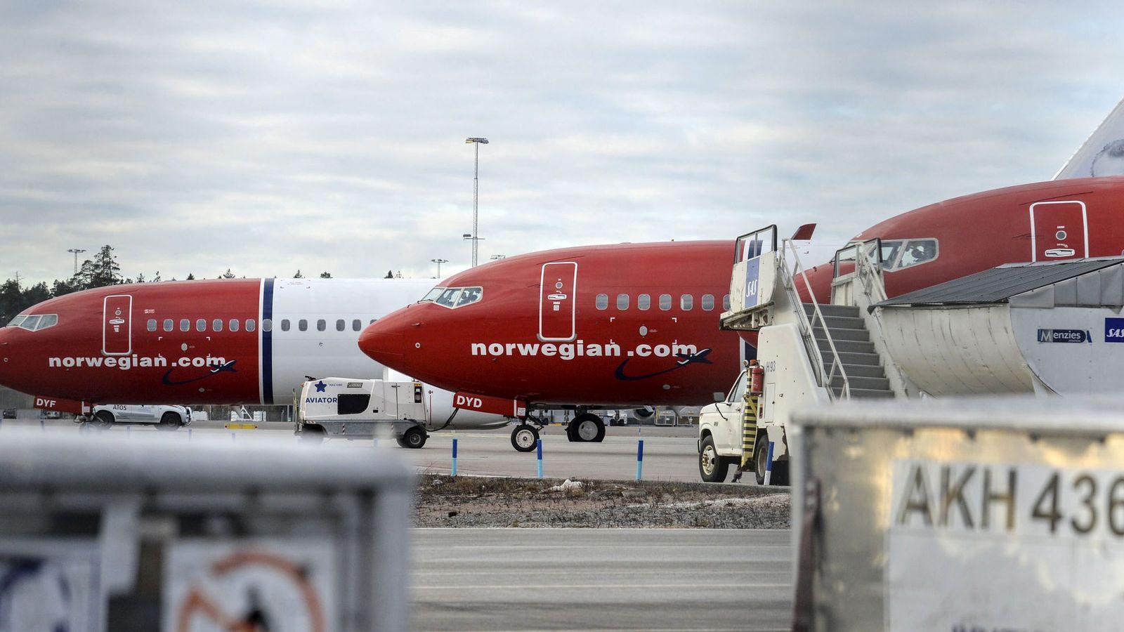 Foto: Aviones de Norwegian (Reuters)