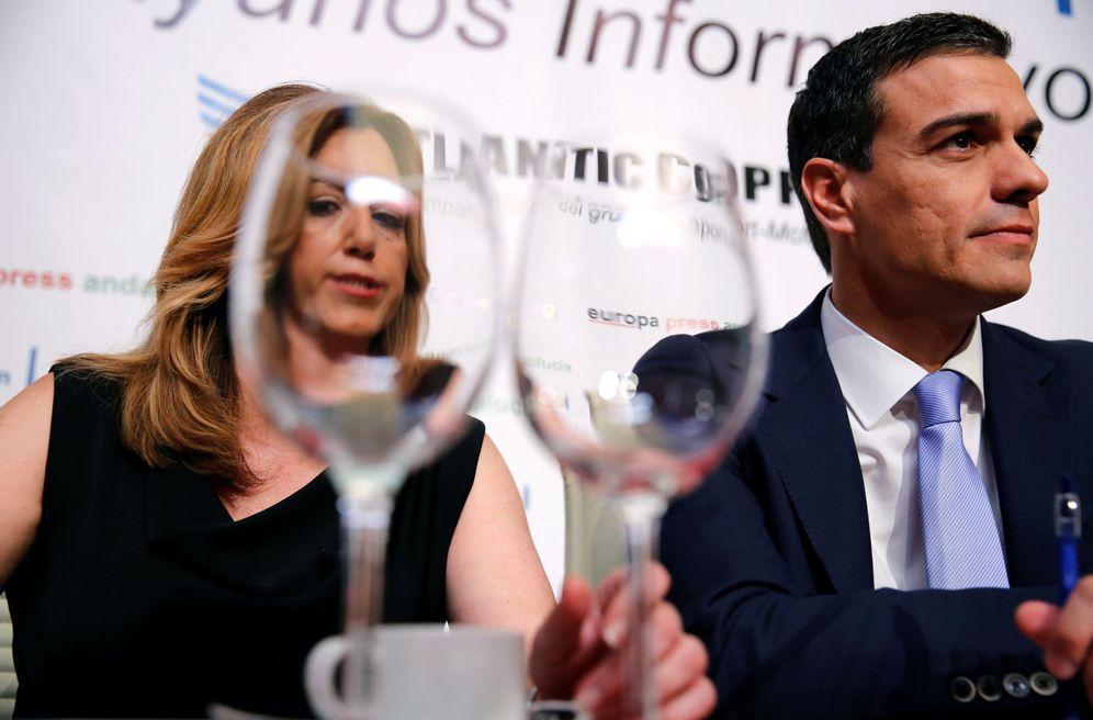 Foto: Susana Díaz y Pedro Sánchez, el pasado 7 de junio en un desayuno informativo en Sevilla previo a las generales del 26-J. (Reuters)