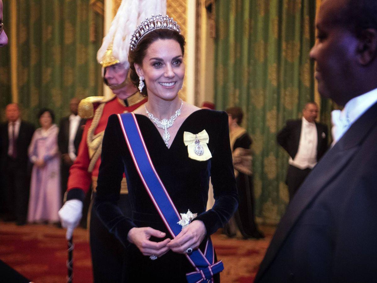 Foto: Kate, en Buckingham Palace. (Getty)