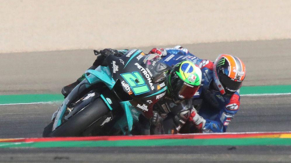 Foto: Morbidelli (Petronas YAmaha SRT) durante el Gran Premio Liqui Moly de Teruel del Campeonato del Mundo de MotoGP. (Efe)