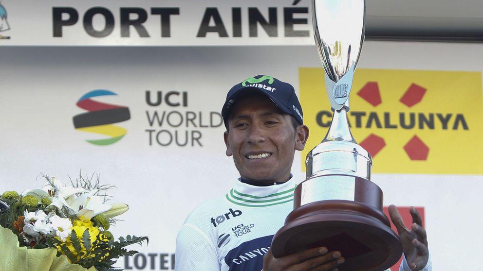 Quintana se enfunda el maillot de líder de la Volta tras romper a los favoritos