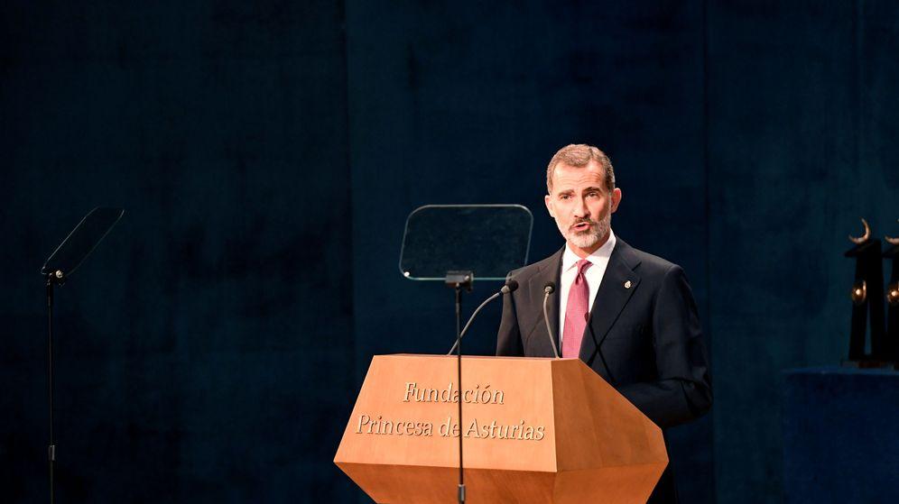 Foto: Felipe VI durante su discurso en el Princesa de Asturias. (Reuters)