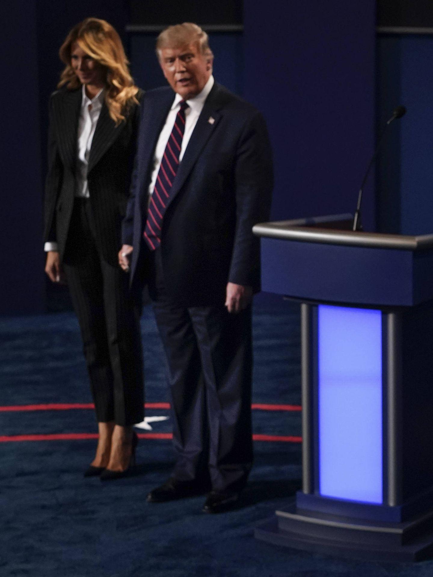 Melania y Donald Trump, en Ohio el 29 de septiembre. (Getty)