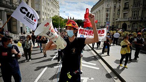 Manifestación de interinos en Madrid