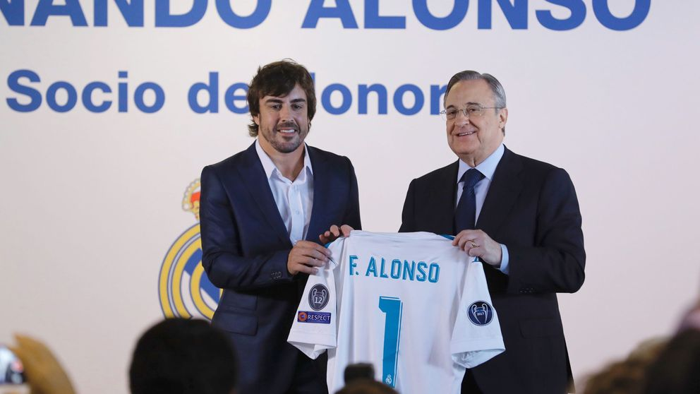 Fernando Alonso recibe la distinción de socio de honor del Real Madrid
