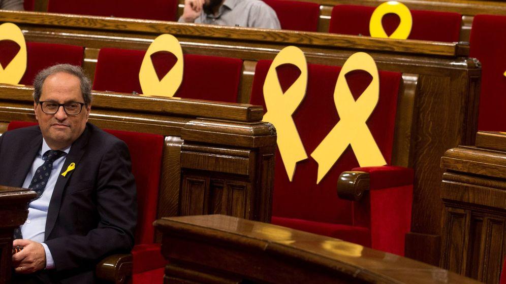 Foto: Quim Torra limita su reunión con Sánchez a hablar del derecho de autodeterminación. (EFE)
