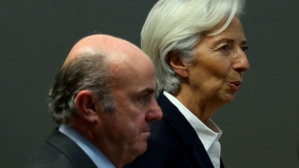 Foto: Vicepresidente del Banco Central Eurpeo, Luís de Guindos, con la presidenta Christine Lagarde (EFE)