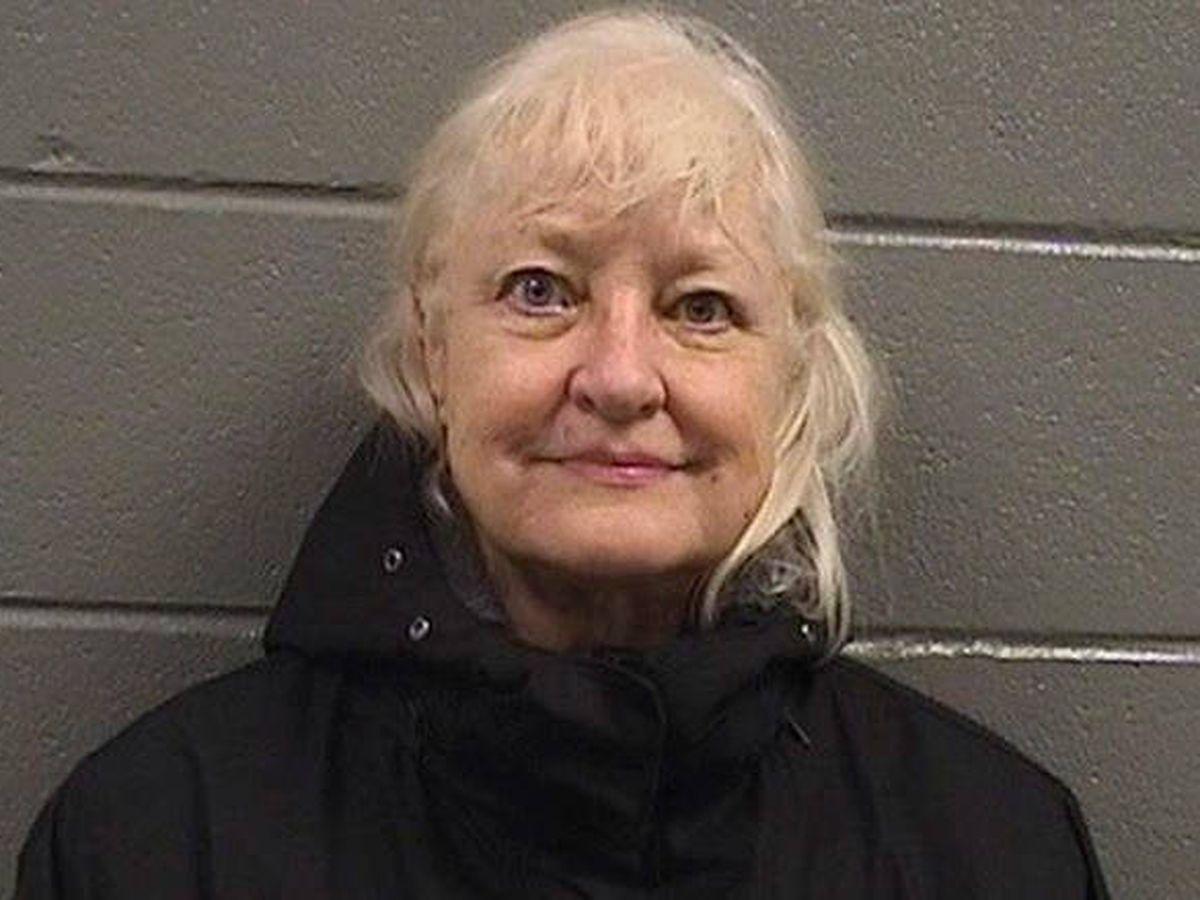 Foto: Marilyn Hartman usa su aspecto aparentemente inofensivo para volar (Cook County Jail)