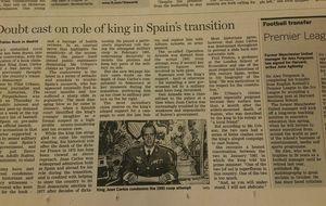 La polémica de Urbano, en el FT: cuestionado  el papel del Rey en la Transición española
