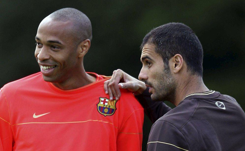 Foto: Pep Guardiola y Henry coincidieron en el Barcelona (EFE)
