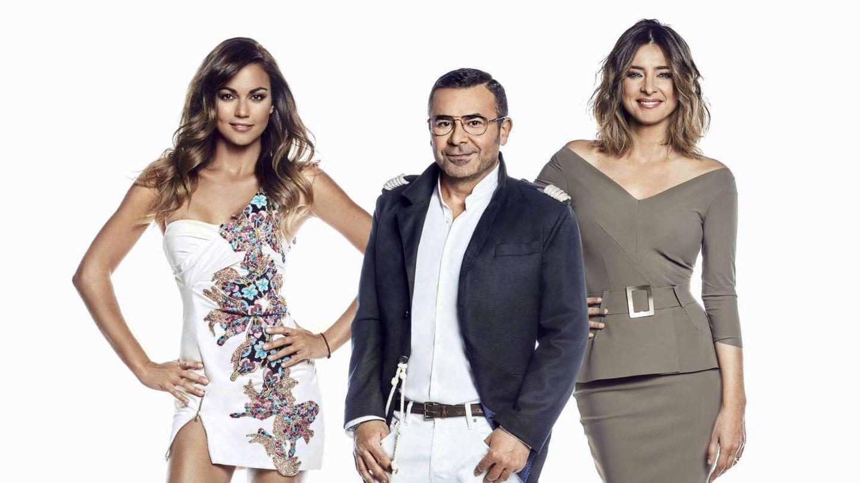 Lara Álvarez, Jorge Javier Vázquez y Sandra Barneda, presentadores de la edición 2018 de 'Supervivientes'.