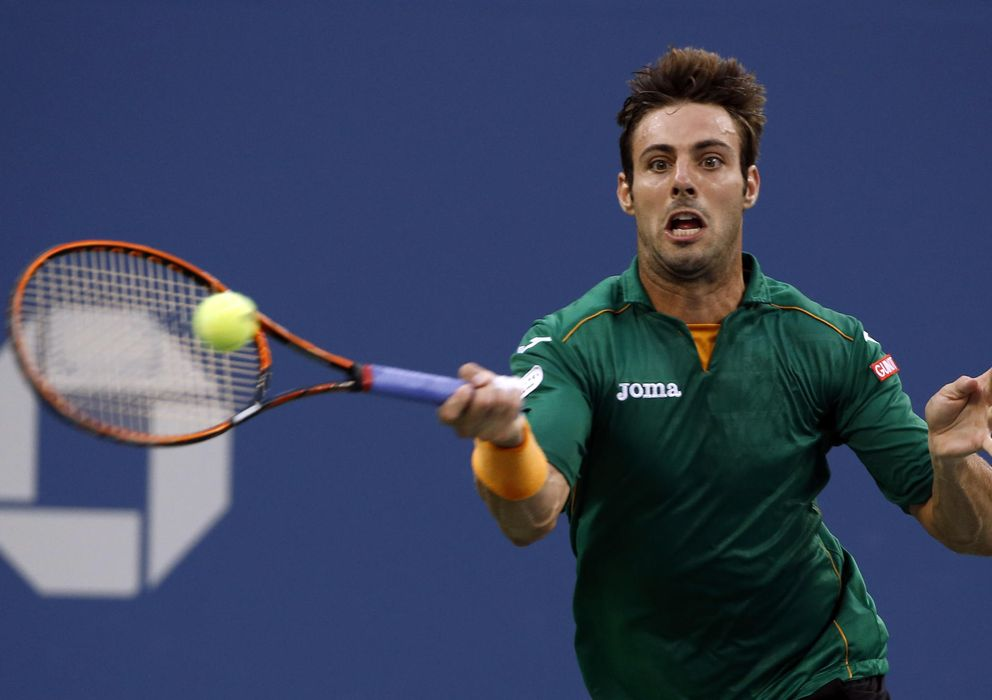 Foto: Marcel Granollers, durante un partido del US Open (AP).
