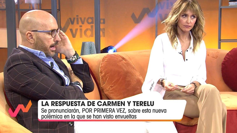 Diego Arrabal, el sábado con Emma García. (Mediaset)