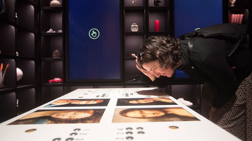 Foto: Exposición Leonardo Da Vinci en su muestra en Barcelona (Efe)