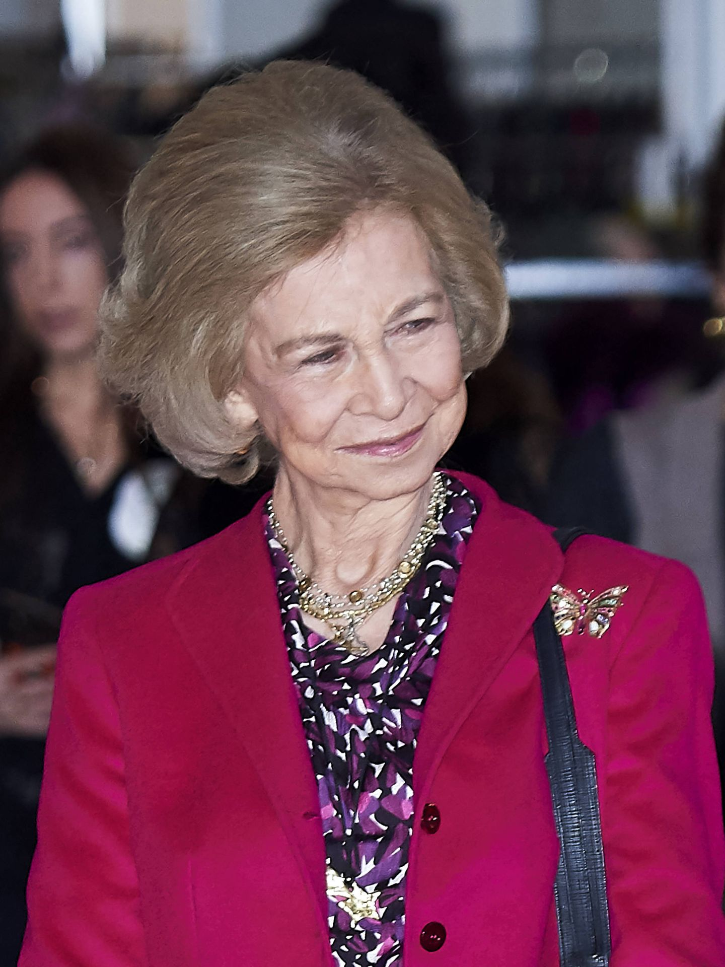 La reina Sofía, en el rastrillo Nuevo Futuro. (Getty)