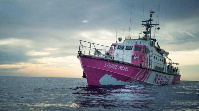 El 'Louise Michel', el barco de rescate financiado por Banksy