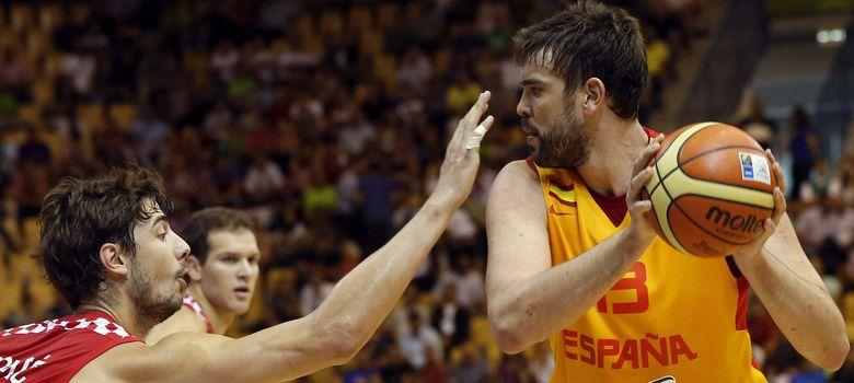 Foto: Marc Gasol volvió a ser uno de los hombres claves para España