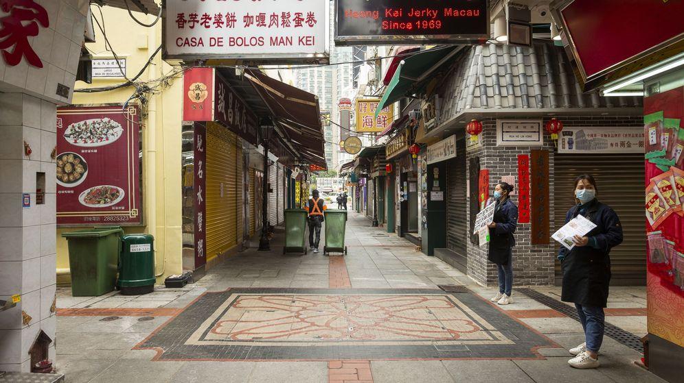 Foto: Calles vacías en Macao por el coronavirus. (EFE)