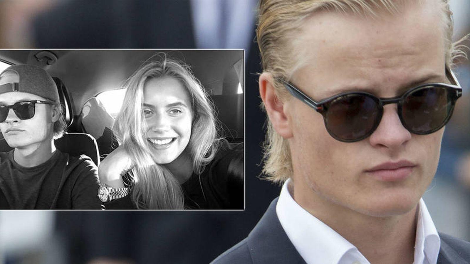 Foto: Marius Borg y su novia en una imagen de Instagram