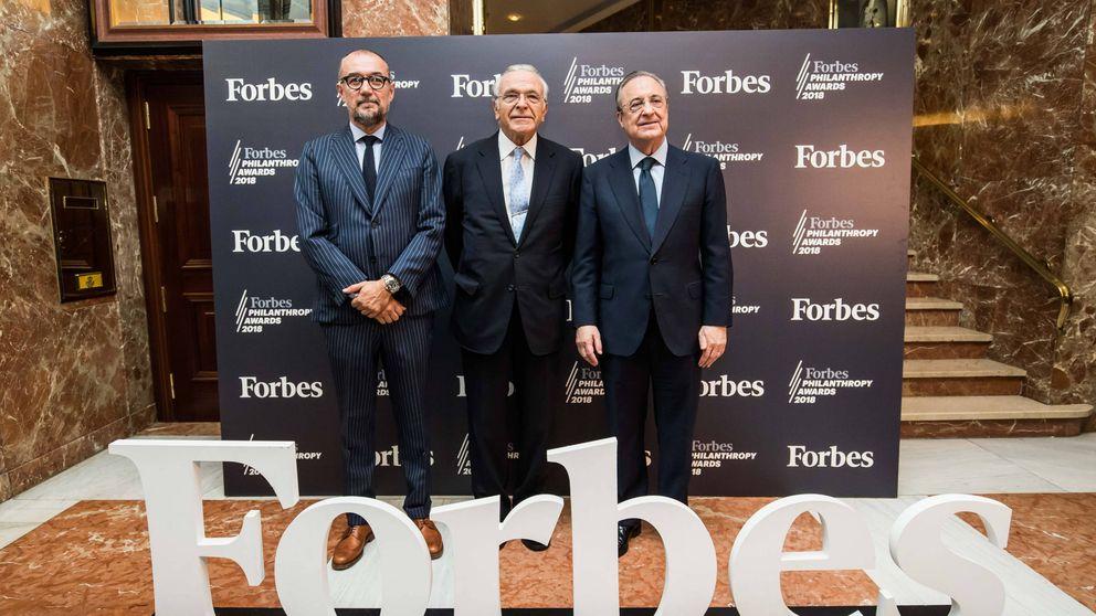 Isidro Fainé recoge el premio de la revista 'Forbes' a la Filantropia 2018