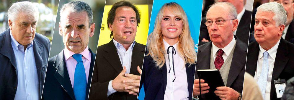 Foto: Algunos de los rostros más conocidos de la lista de morosos de Hacienda. (EFE)