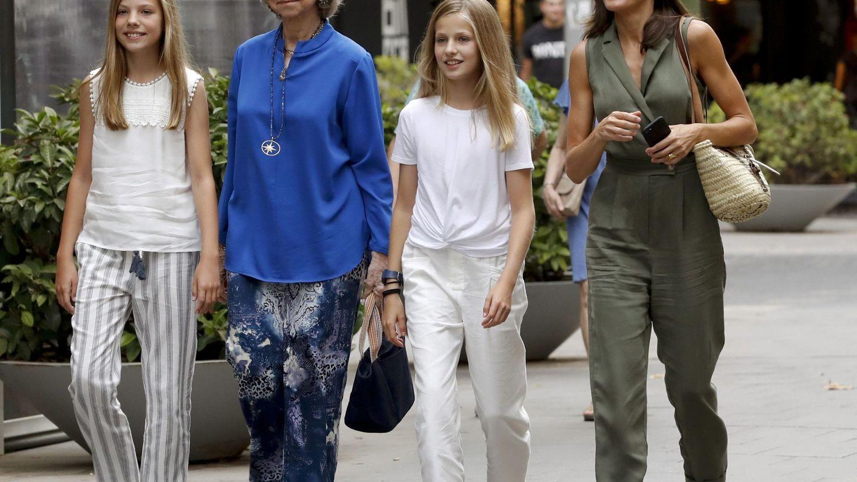 Sofía, Letizia y Leonor. (EFE)