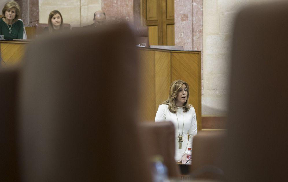 Foto: Susana Díaz, este 20 de abril en el pleno del Parlamento andaluz. (EFE)