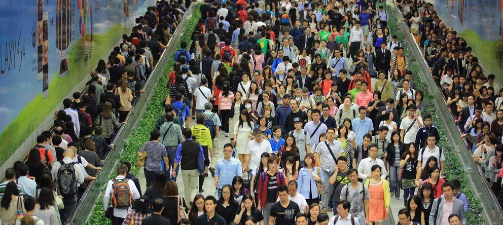 Foto: Aspecto del metro de Shangái ayer (Reuters)