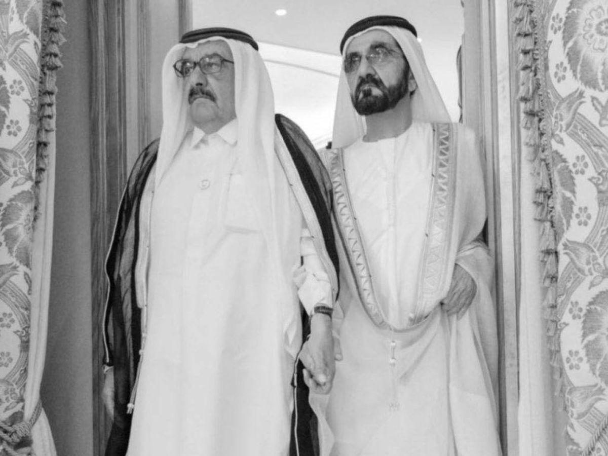Foto: Mohamed bin Rashid Al Maktoum, junto a su hermano. (@HHShkMohd)