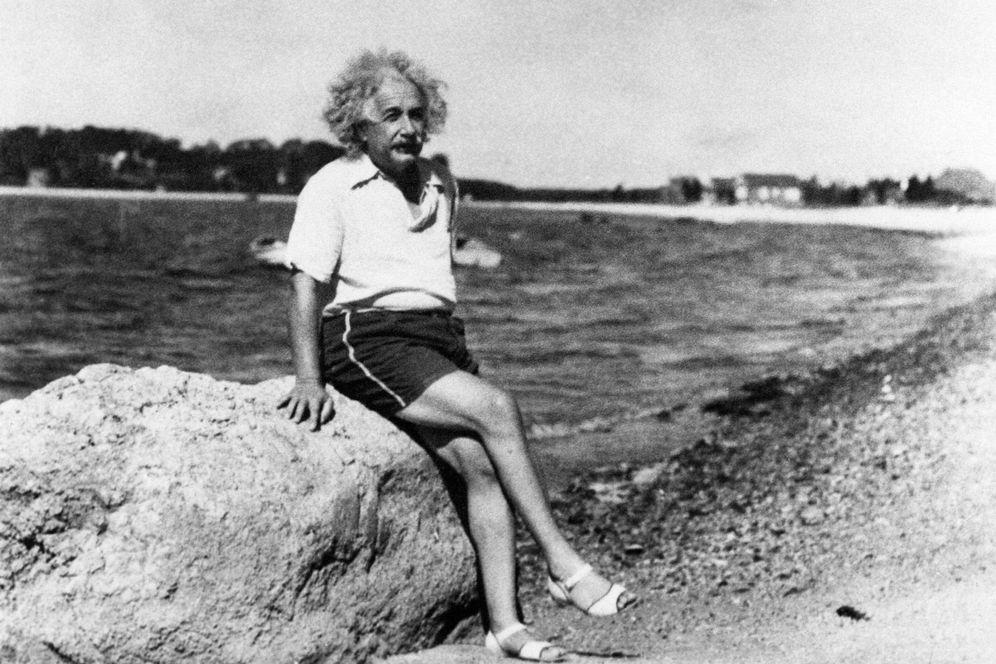 Foto: Albert Einstein en mallorquinas