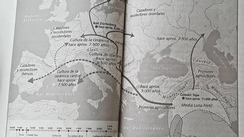 Mapa de 'El viaje de nuestros genes'. (Debate)
