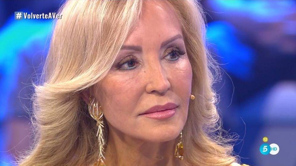Foto: Carmen Lomana, en 'Volverte a ver'. (Telecinco).