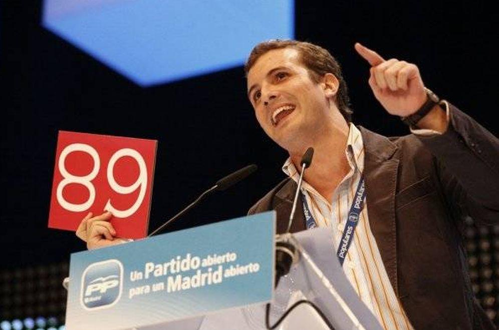 Foto: Pablo Casado el día de su discurso contra el 68 (Facebook de Pablo Casado)