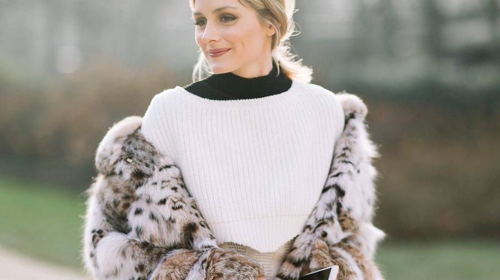 Foto: La it girl Olivia Palermo con abrigo de leopardo por las calles de París. (Instagram)