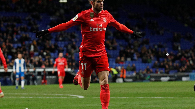 Bale celebra un gol en Cornellà-El Prat. (EFE)