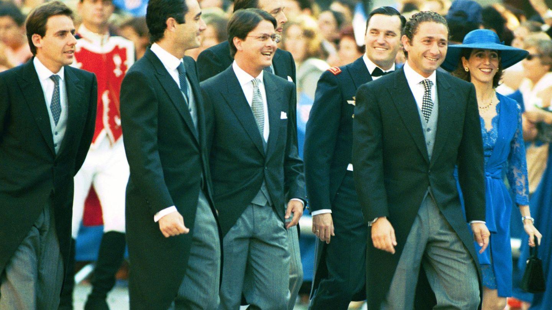 Javier López Madrid y los hermanos Fuster en la boda de la infanta Cristina (I.C.)