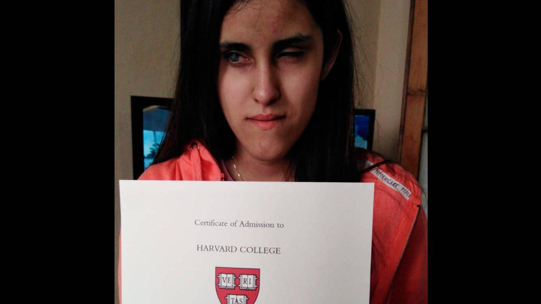 Harvard admite a una invidente uruguaya: le pagará la carrera, los gastos y le dará trabajo
