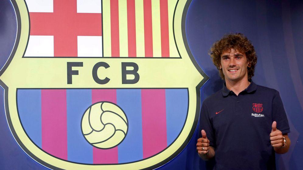 Foto: Griezmann en su presentación con el Barcelona. (Efe)