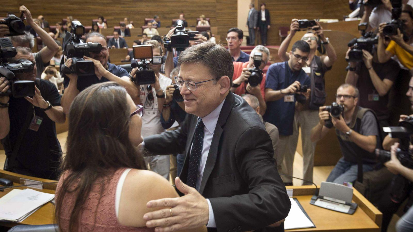 Foto: Enric Morera, de Compromís, en su investidura como presidente de Les Corts Valencianes. (EFE)