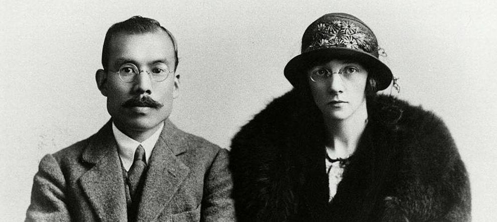 Foto: La escocesa Rita Cowan, creadora del imperio del whisky, junto a su marido, Masataka Taketsuru (Archivo).
