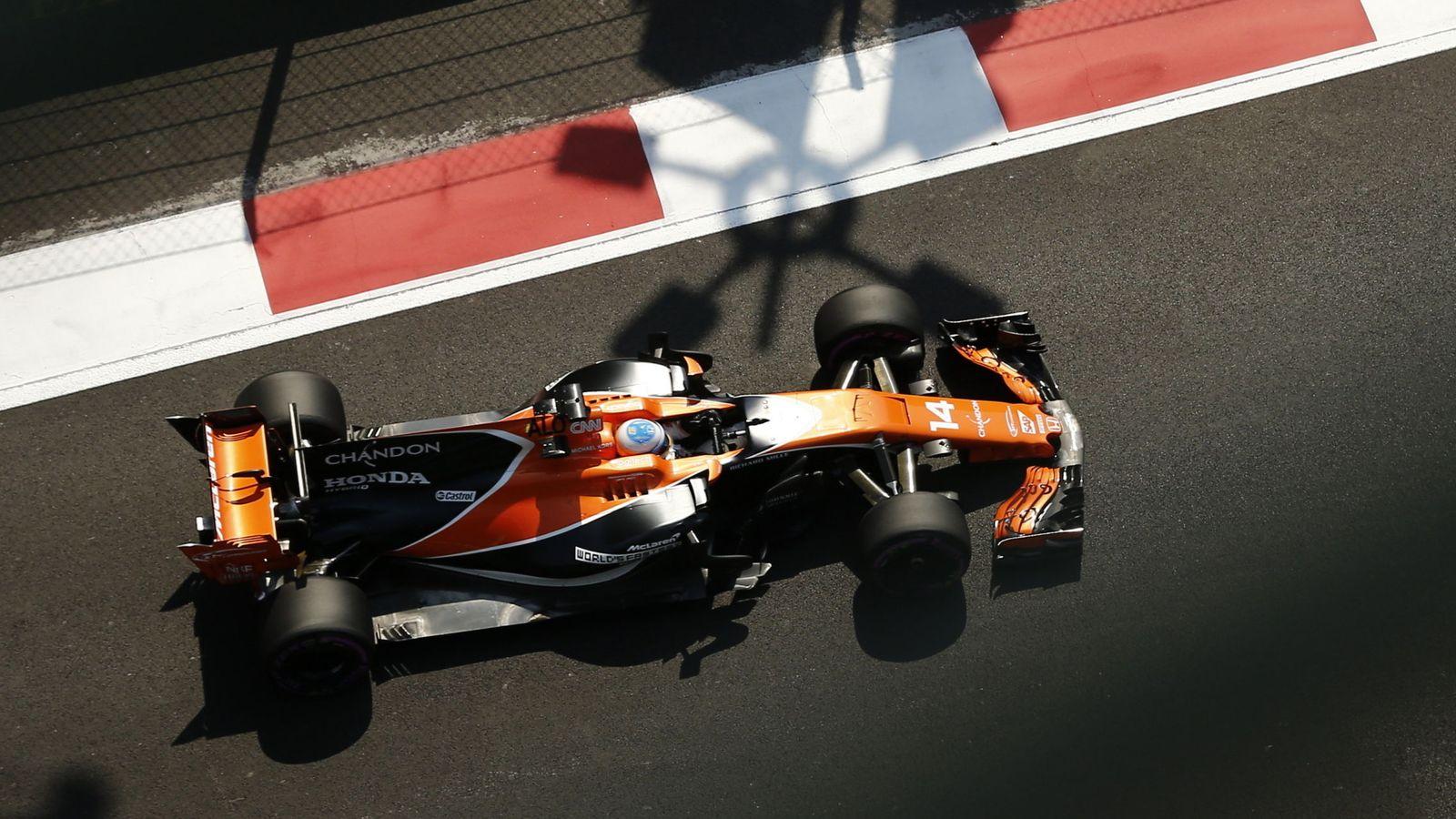 Foto: Fernando Alonso fue séptimo este viernes en la segunda sesión de entrenamientos libres del GP de México. (EFE)