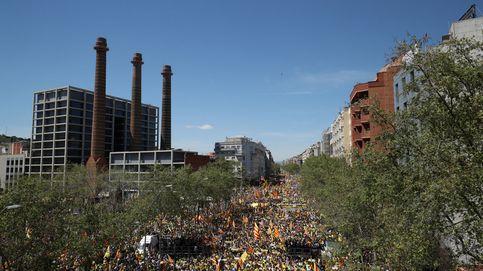 Puigdemont roba protagonismo a los presos y monopoliza la manifestación 'indepe'