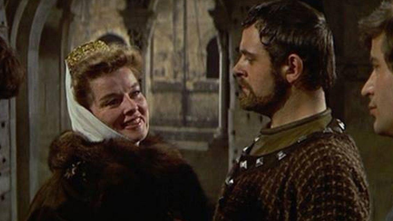 Hepburn y Hopkins, en un fotograma de 'El león en invierno'.
