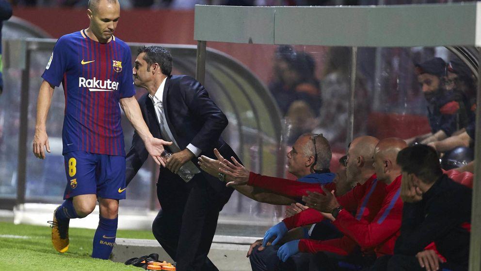 Valverde está haciendo más por la renovación de Iniesta que Bartomeu
