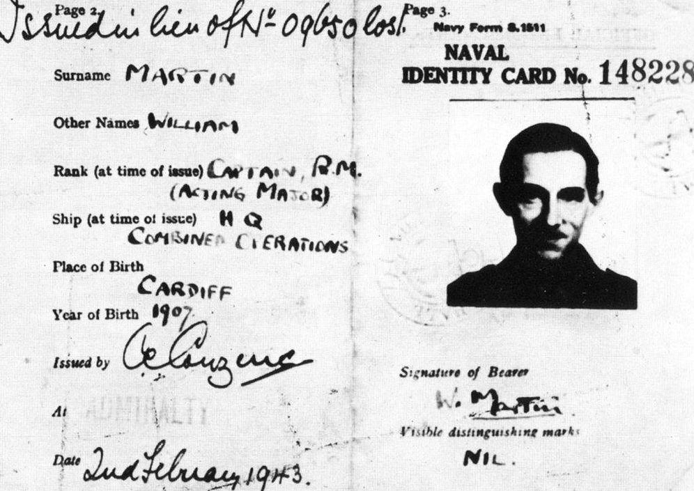 Foto: El falso pasaporte de William Martin qyue los británicos incorporaron al cadáver. (CC/Wikimedia Commons)