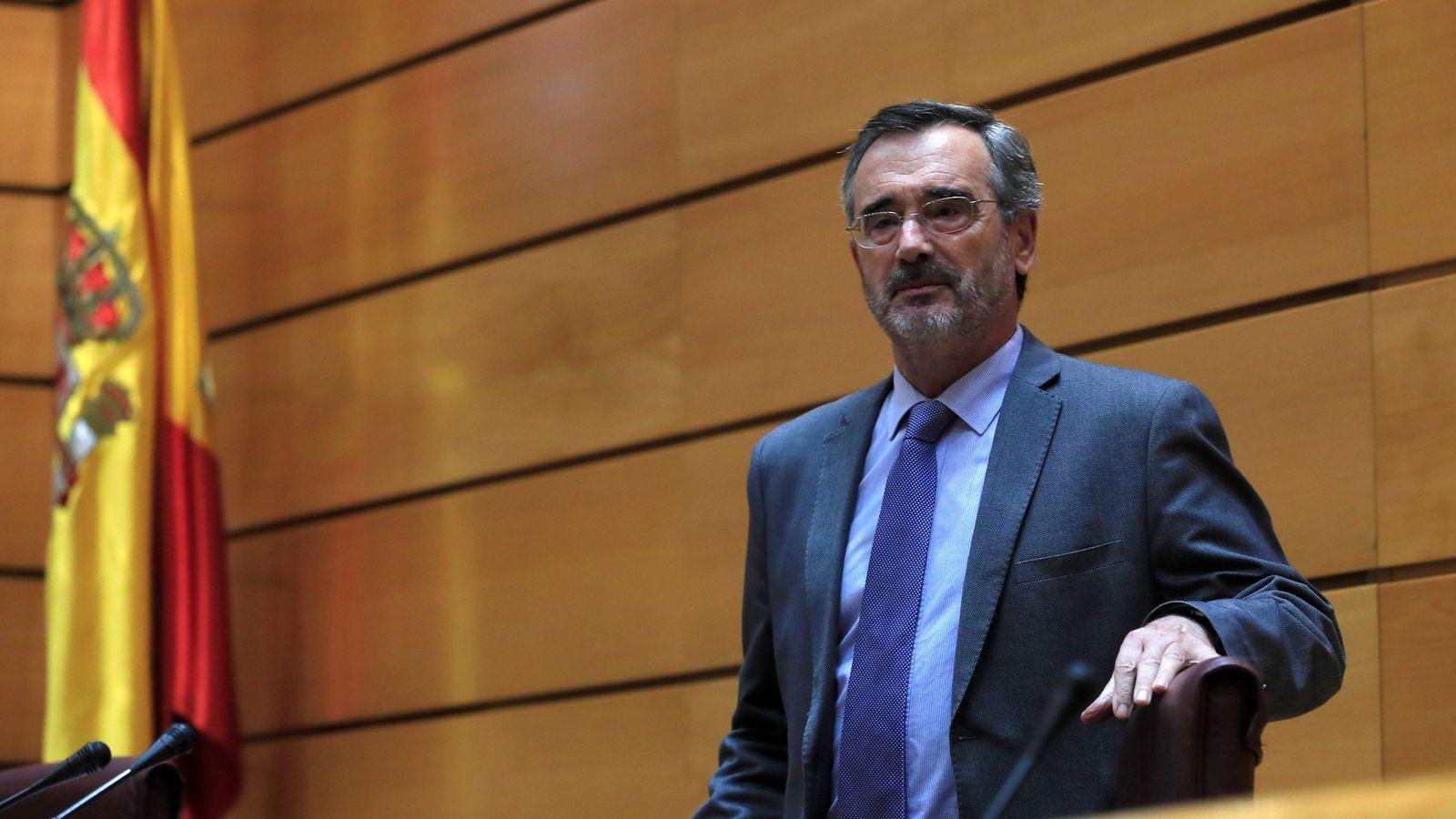 Foto: Manuel Cruz, durante la sesión de control al Gobierno en el Senado. (EFE)
