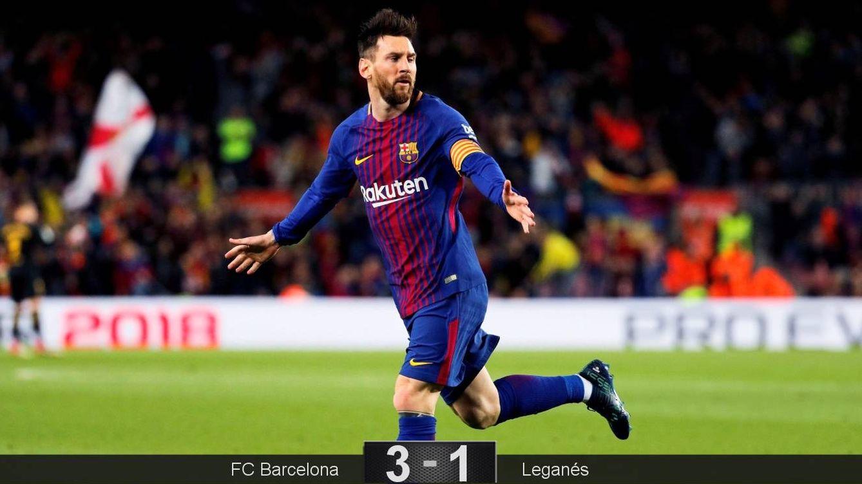 Foto: Messi celebra un gol. (EFE)