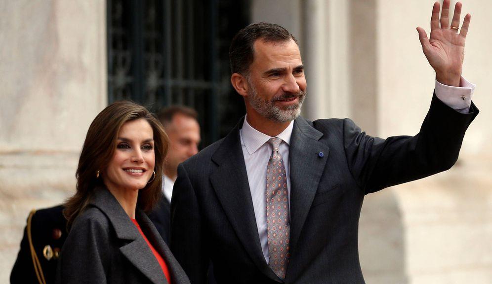Foto: Los Reyes Felipe y Letizia en la ciudad de Lisboa el pasado noviembre. (Reuters)