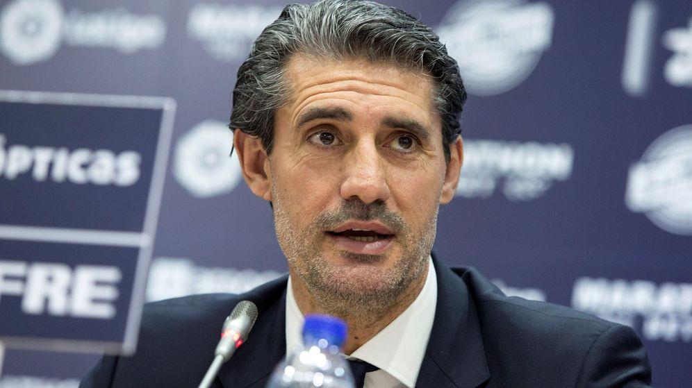 Foto: José Luis Pérez Caminero en el día de su presentación como director deportivo del Málaga. (Efe)