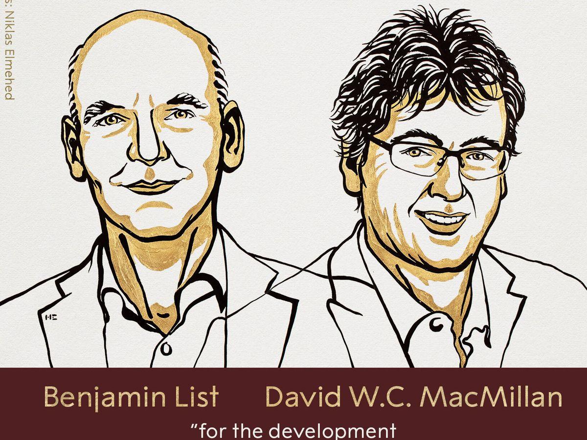 Foto: Los científicos David W. C. McMillan y Benjamin List.